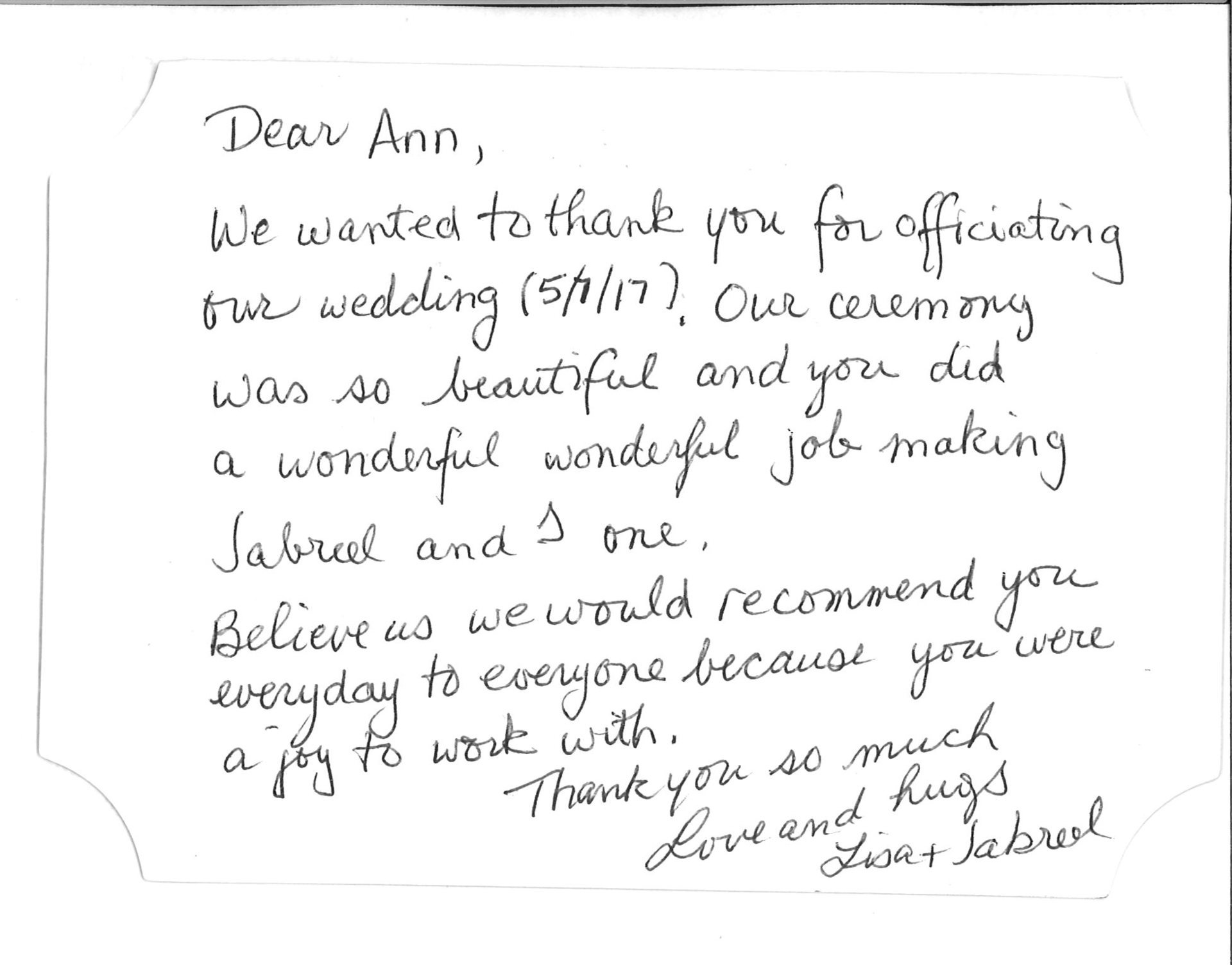 Reviews for Wedding Officiants NYC & Long Island. Testimonials for ...